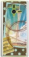 sslink DM014SH ディズニー・モバイル ハードケース ca731 スタンプ 切手 ドット 水玉 スマホ ケース スマートフォン カバー カスタム ジャケット softbank