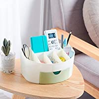 収納Mangjiu セサリー 化粧品 省スペース 飾り 化粧ブラシ収納ボックス (グリーン)