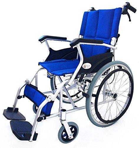 ケアテックジャパン 自走式 アルミ製 折りたたみ 車椅子 ス...