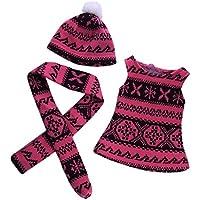 Lovoski  人形 かわいい セーター ウィンター ドレス ネック スカーフ 帽子 18インチアメリカンガールドール適用 装飾