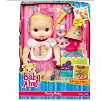 Blonde Baby Alive Party Baby Doll: Party Hat & Blows Own Noisemaker by Baby Alive [並行輸入品]