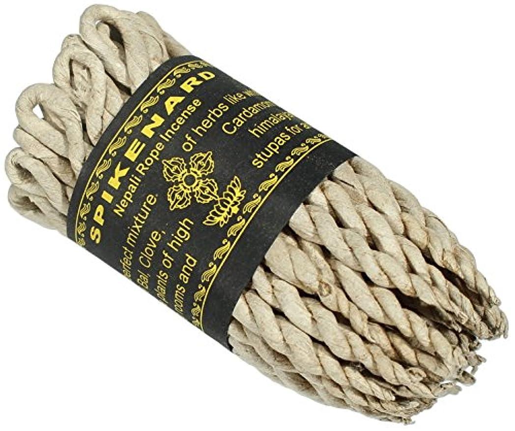 寓話担当者枯れるネパール語Spikenard Rope Incense