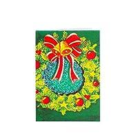 クリスマスカード ホリデーカード クリスマスツリー 陽気なクリスマスグリーティングカード