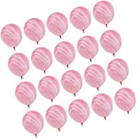Baosity 全7色 マルチカラー バルーン ラテックス製 スワール 瑪瑙風船 ベビーシャワー 誕生日 装飾 - ピンク