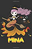 Mina: Mina Halloween Beautiful Mermaid Witch Want To Create An Emotional Moment For Mina?, Show Mina You Care With This Personal Custom Gift With Mina's Very Own Planner Calendar Notebook Journal