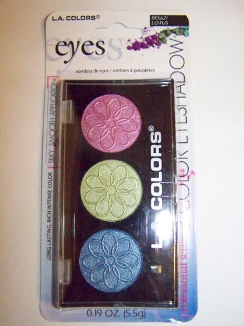 L.A. COLORS 3 Color Eyeshadow - Lotus (並行輸入品)
