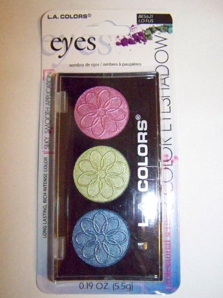 降臨食用匿名L.A. COLORS 3 Color Eyeshadow - Lotus (並行輸入品)