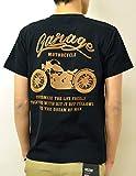 (ジーンズバグ)JEANSBUG MOTORCYCLE オリジナル バイカー プリント 半袖 Tシャツ メンズ レディース 大きいサイズ ST-MOTOR S クロ×ヤマブキ(22)