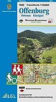 LGL BW 50 000 Freizeit Offenburg, Ortenau, Kinzigtal: Naturpark Schwarzwald Mitte/Nord 3. Mit Rad- und Wanderwegen. Karte des Schwarzwaldvereins. Offizielle Karte des Naturparks