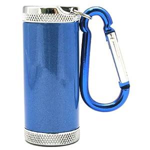 アドミラル産業 携帯灰皿 シリンダー5 カラビナ付き ブルー 81590004