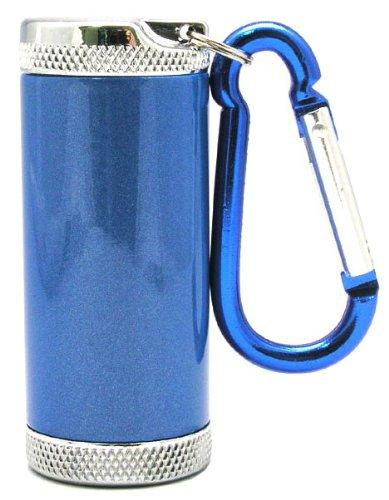 アドミラル産業 携帯灰皿 シリンダー5 カラビナ付き ブルー...
