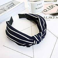 AKDSteel Women Girls Headband Top Knot Turban Headband Cross Bandage Scarf Hair Accessories 3#