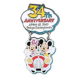 ディズニー ランド 34周年 2017 ピンバッジ ピン バッジ ミッキー ミニー グーフィー ( ランド限定 グッズ )