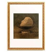 オディロン・ルドン Odilon Redon 「Tete de Martyr posee sur une Coupe」 額装アート作品