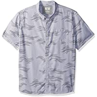 Quiksilver Men's Valley Groove Print Short Sleeve Button Down Shirt