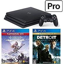 PlayStation 4 Pro + Detroit: Become Human + Horizon Zero Dawn Complete Edition セット (ジェット・ブラック) (CUH-7200BB01)【特典】オリジナルカスタムテーマ(配信)