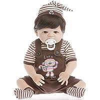 SanyDoll Rebornベビー人形ソフトSilicone 22インチ55 cm磁気Lovely Lifelikeキュートかわいいベビー誕生日プレゼント