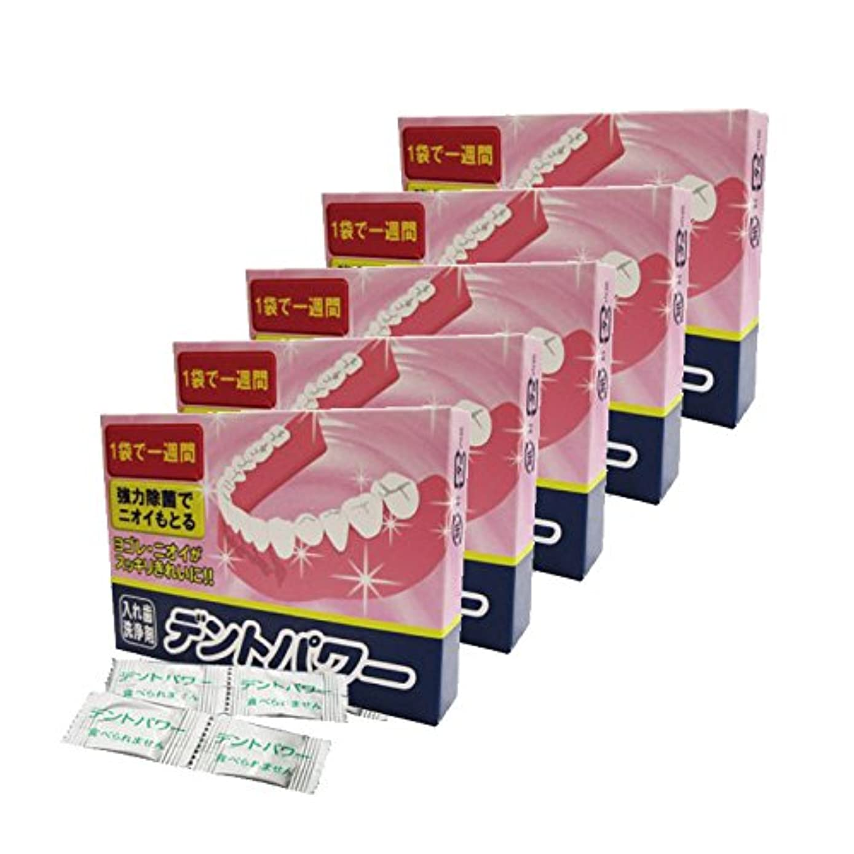 仕えるなだめる隔離デントパワー 入れ歯洗浄剤 5ヵ月用x5個セット