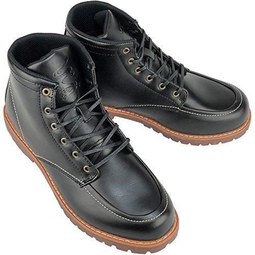 DECT(デクト) 防水 ワークブーツ レインシューズ スノーブーツ メンズ 靴 (26cm, ブラック)
