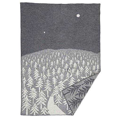 RoomClip商品情報 - KLIPPAN クリッパン mina perhonen ミナペルホネン シングルブランケット 130 × 180 cm HOUSE IN THE FOREST グレー