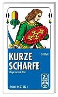 Kurze Scharfe.  FXS Traditionelle Spielkarten: Bayrisches Bild