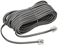 The VoIP Lounge 25 Ft Long 4 Pin Silver Satin Line Cord for Avaya Nortel Meridian Norstar Phone T7316E T7316 T7208 T7100 M7310 M7208 M7324 M7100 M2616 M2008 M5316 M8009 M8004 [並行輸入品]