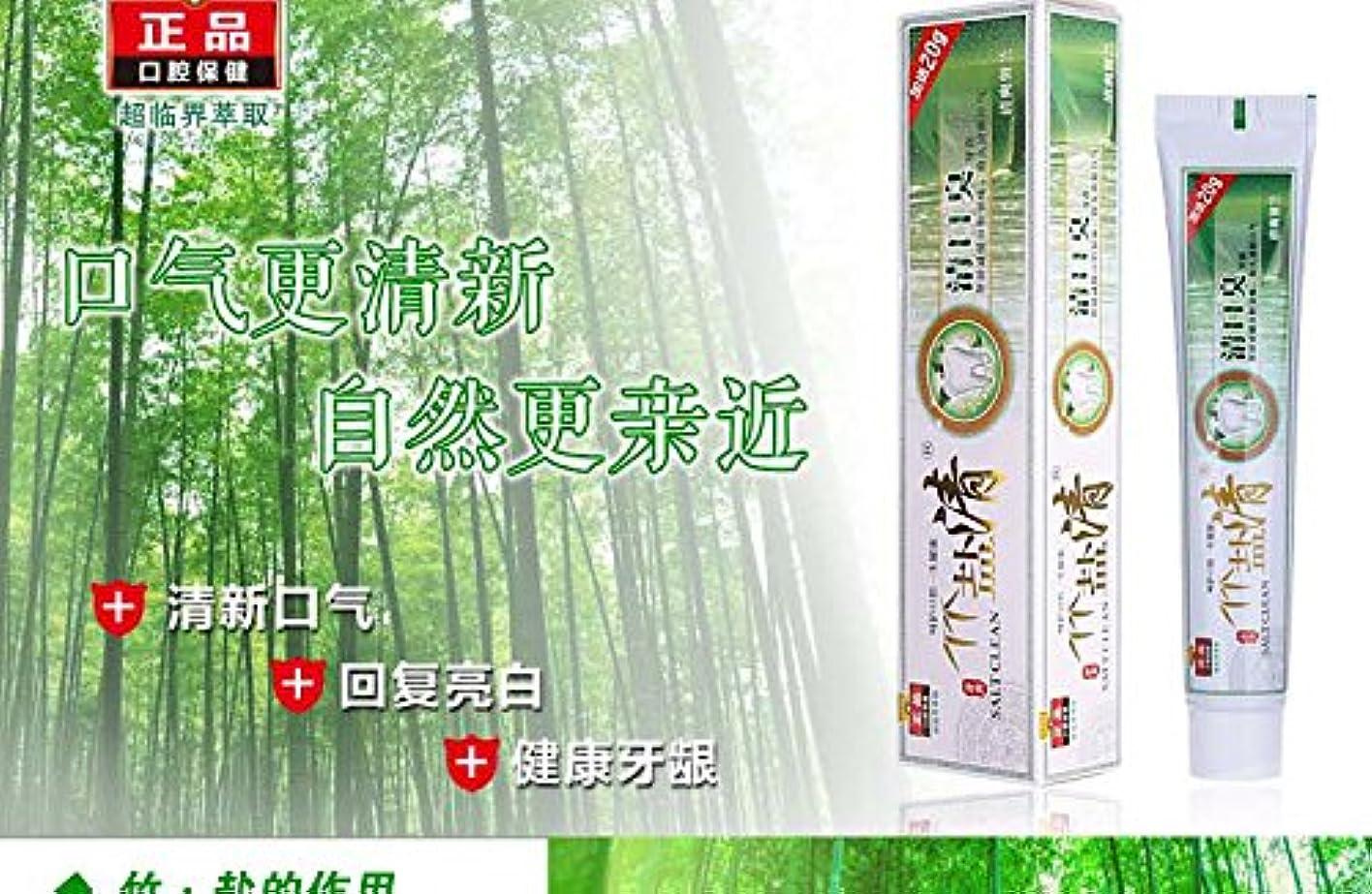 タイヤ気配りのあるミニチュア竹塩歯磨き粉 ヤニ、口臭、歯周病にお勧め120g 10点セット