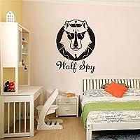 Dtcrzj クリエイティブハンサム犬アートウォールステッカー女の子男の子子供部屋リビングルームPvc装飾Diy壁画デカール