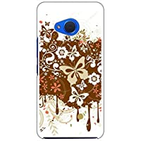 sslink Android One X2/HTC U11 life ハードケース ca546-4 蝶 花柄 ファンタジー ブラウン スマホ ケース スマートフォン カバー カスタム ジャケット Y!mobile 楽天モバイル