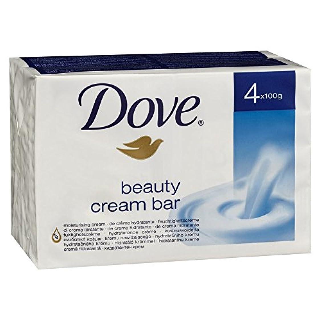 石化するシチリア乳白色Dove どこ美容クリームバー石鹸4x100g