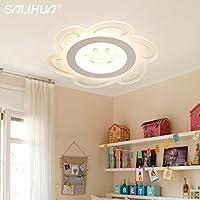 yposion幼稚園プリンセスGirlsクリエイティブソーラーLED天井ランプ超薄型寝室ライトEye Care子供の部屋照明、430mm