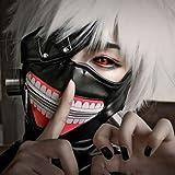 Lulu LAB 東京喰種 トーキョーグール 金木 研 風 ウイッグ マスク 4点セット マスク + 眼帯 + ウイッグ + ウイッグネット