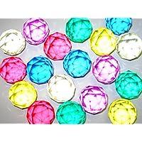 スーパーボール ダイヤモンドカット 49mm (5個入, 色おまかせ5色セット)