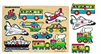 Small World Toys Ryan's Room Wooden Puzzle - Classic Transportation [並行輸入品]