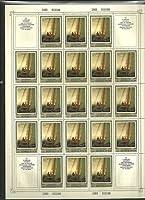 ソ連切手『25枚未使用フルシート』(名画D)ヨット