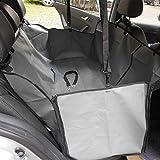 Minidiva ペット用折り畳み式防水ドライブシート 犬の安全ハンモックシートカバー ボックスタイプ(グレー) …