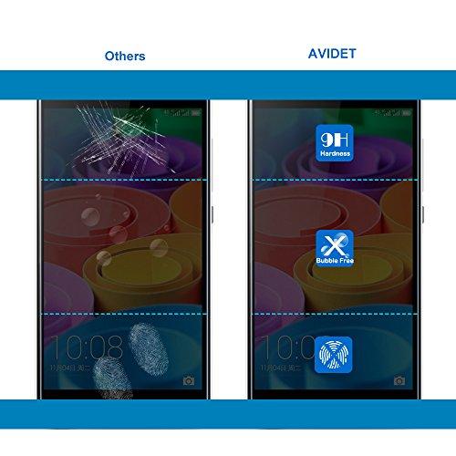 Sony WALKMAN A30 3.1インチ用 専用強化ガラスフィルム AVIDET (NW-A35/NW-A35HN/NW-A36HN/NW-A37HN対応) 9H硬度の液晶保護 0.3mm超薄型 国産ガラス素材 耐指紋 撥油性 高透過率 ラウンドエッジ加工