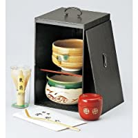 黒塗茶の湯揃 [ 160 x 160 x 250mm ]【 茶道具 】 【 茶道 お土産 和食器 セット 】