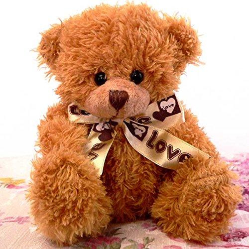 【ASH LOVERS】ぬいぐるみくま可愛いミニベアー フワフワ!手触りバツグン イエローブラウン