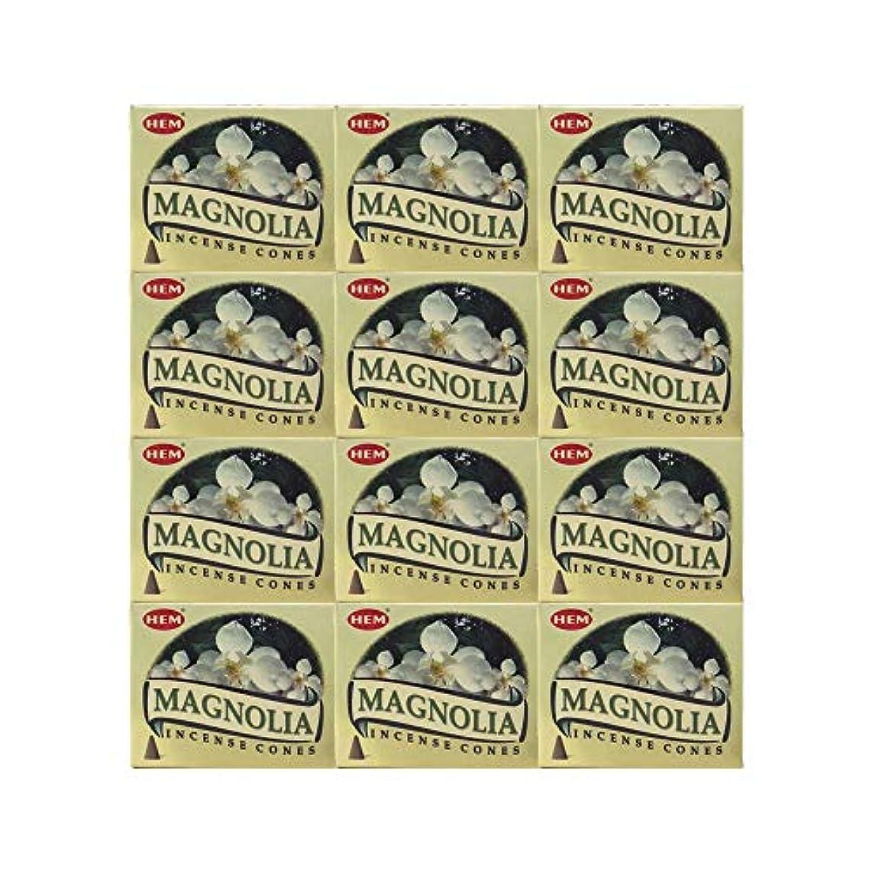 曇った動物園腹部HEM(ヘム) マグノリア香 コーンタイプ MAGNOLIA CORN 12箱セット