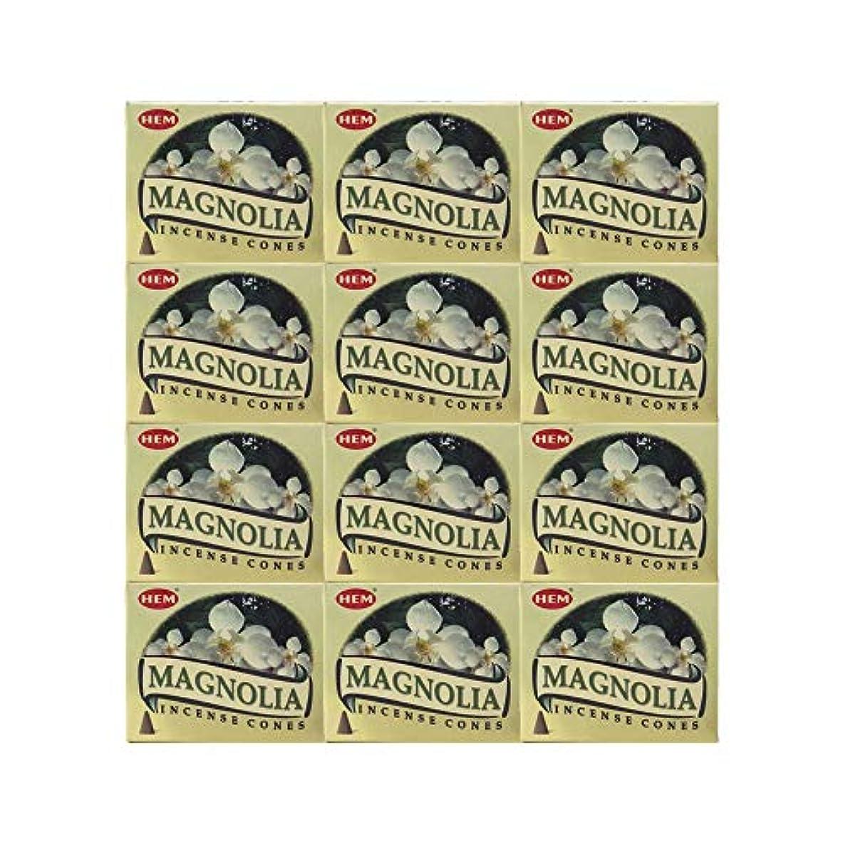 呼び出す納得させるグリーンバックHEM(ヘム) マグノリア香 コーンタイプ MAGNOLIA CORN 12箱セット