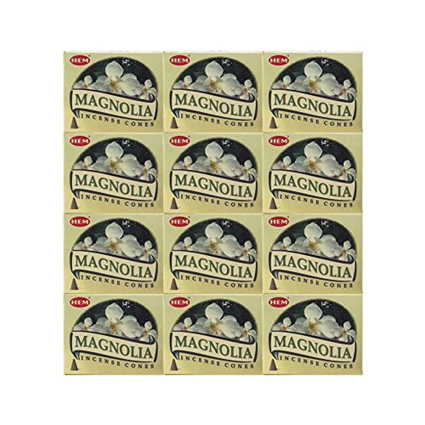 たっぷりシェア彼らはHEM(ヘム) マグノリア香 コーンタイプ MAGNOLIA CORN 12箱セット