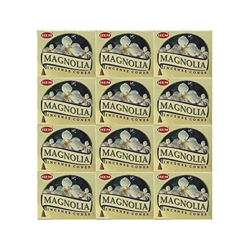 努力する声を出して気分HEM(ヘム) マグノリア香 コーンタイプ MAGNOLIA CORN 12箱セット
