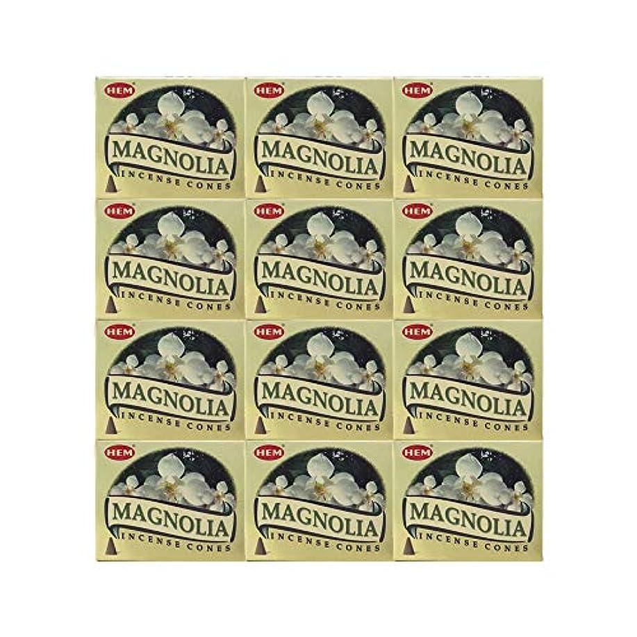 雪の満州ピンクHEM(ヘム) マグノリア香 コーンタイプ MAGNOLIA CORN 12箱セット