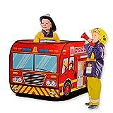 消防車テント ポップアップ キッズテント 折り畳み ? Happytime ZM17014 (2017新発売) ファイヤートラック ゲームハウス 折りたたみ 屋内遊具 車両 贈り物 3歳から おもちゃ 知育玩具