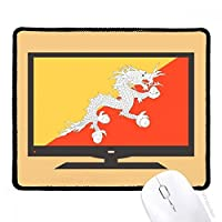 アジアの国ブータンの国旗 マウスパッド・ノンスリップゴムパッドのゲーム事務所