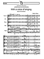 Martin Shaw: With A Voice Of Singing (SATB/Organ). Partitions pour SATB, Accompagnement Orgue