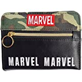 【MARVEL/?????】迷彩ファスナー付き二つ折り財布(GR)49945