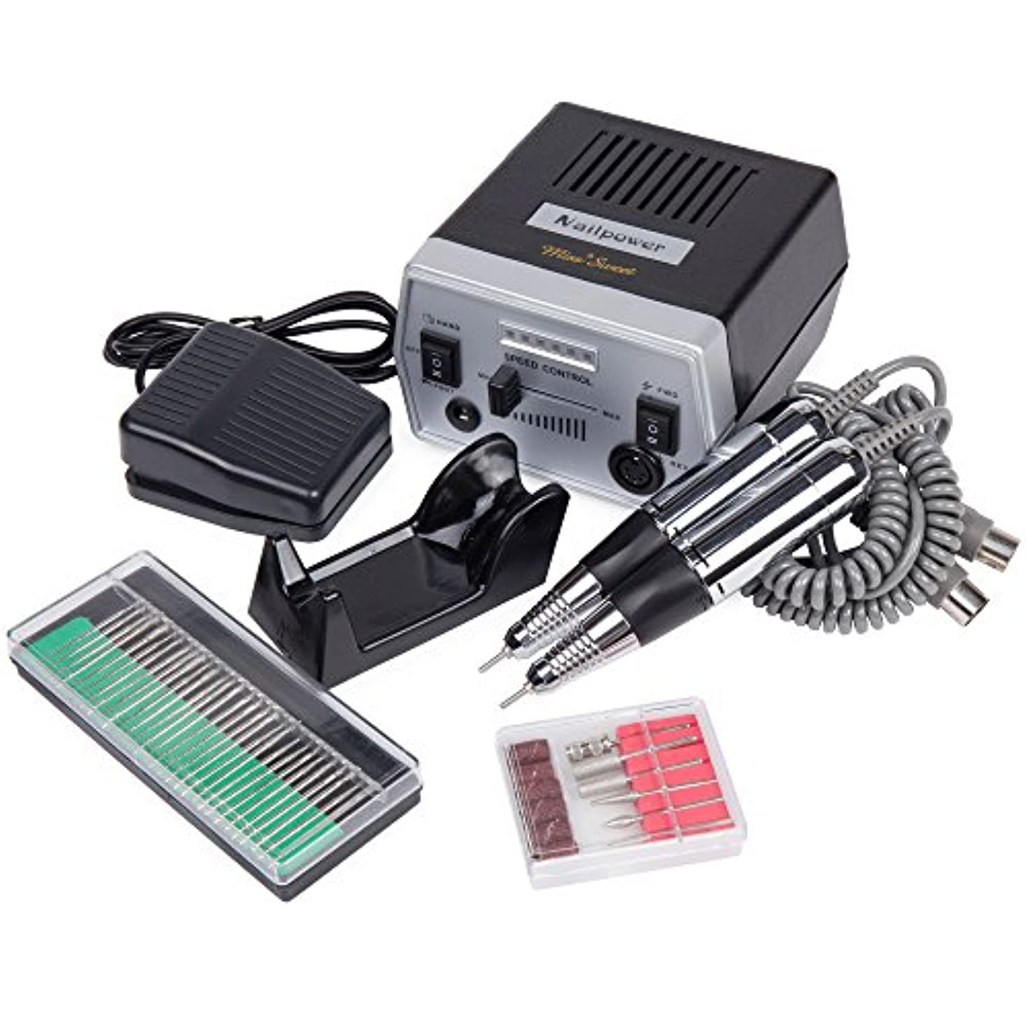 苦指標保証するMiss Sweet プロ用電動ネイルマシン 3万回転/分 ハードジェルネイルのオフにも最適 (黒)
