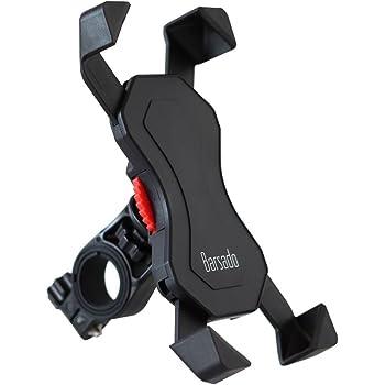 【Barsado】自転車 バイク 用 ダイヤル式 スマートフォンホルダー バー マウント 多機種対応!! 厚さ調整パッド付属